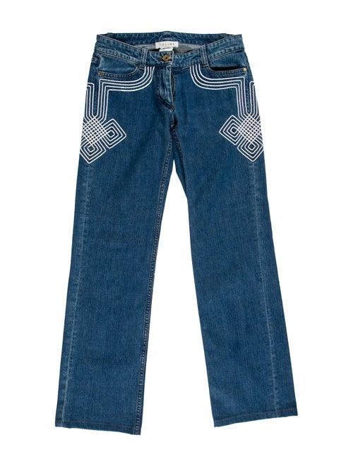 Celine Low-Rise Straight Leg Jeans Blue
