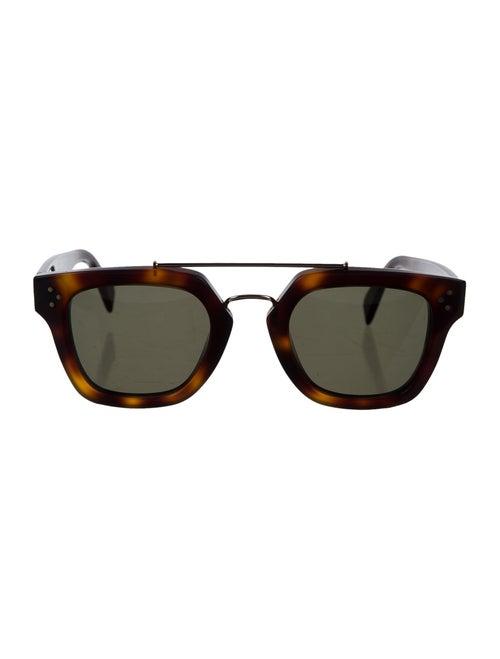 Celine Square Tinted Sunglasses gold