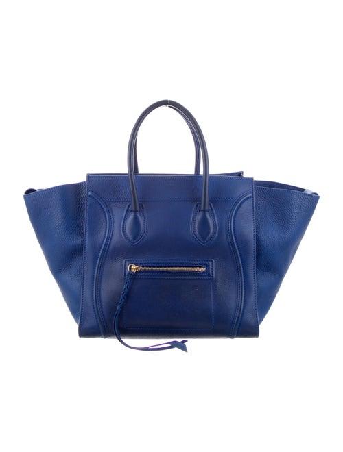 Celine Medium Phantom Luggage Tote Blue
