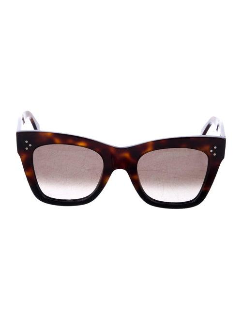 Celine Catherine Gradient Sunglasses Brown