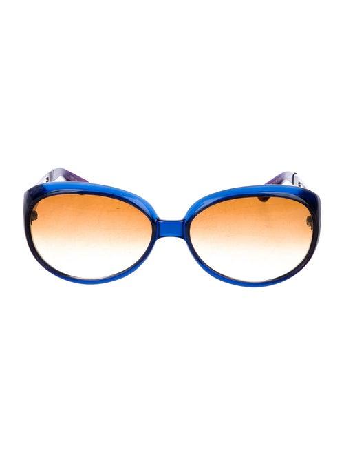 Celine Round Gradient Sunglasses Blue
