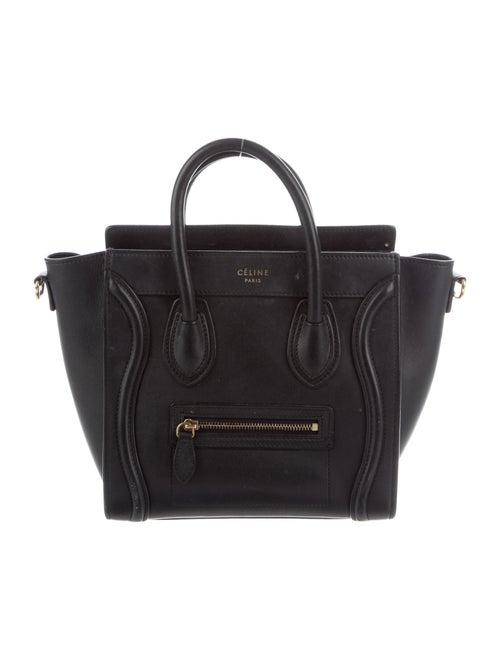 Celine Nano Luggage Tote Black