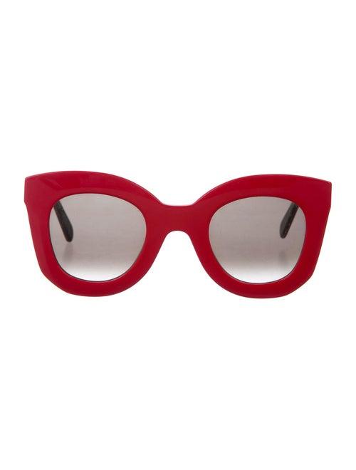 Celine Oversize Tinted Sunglasses Coral