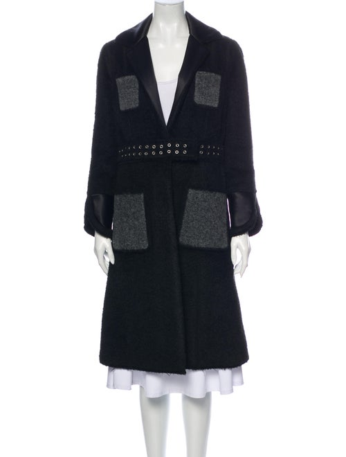 Celine Alpaca Coat Black