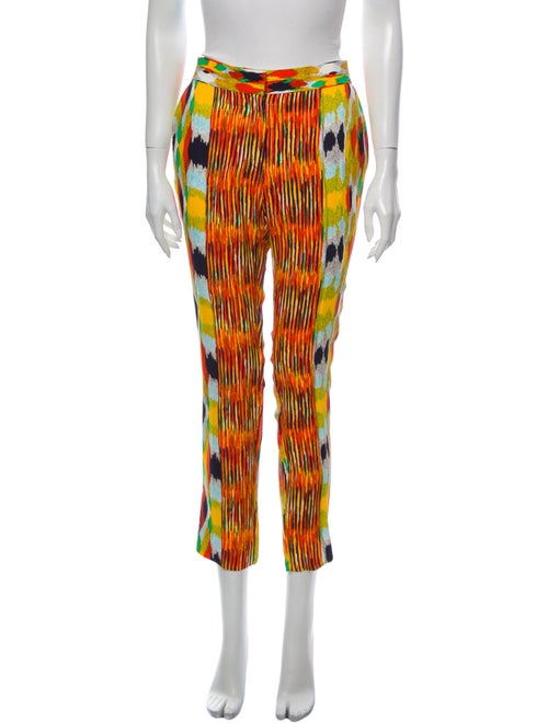 Celine Printed Straight Leg Pants Orange