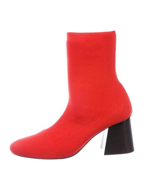 Celine Sock Boots Red