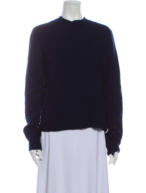 Celine Mock Neck Sweater Blue