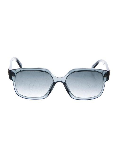 Celine Emma Square Sunglasses Navy