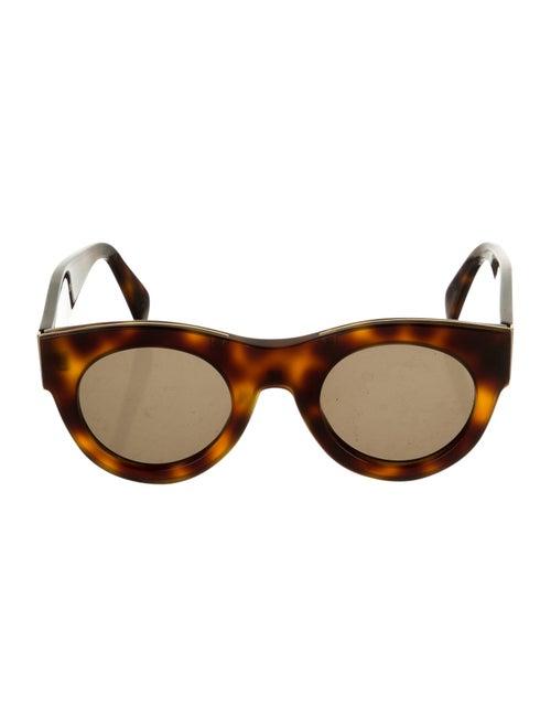 Celine Round Tinted Sunglasses Brown