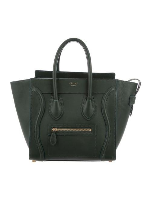 Celine Micro Luggage Tote Green