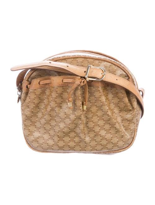 Celine Vintage Macadam Crossbody Bag Tan