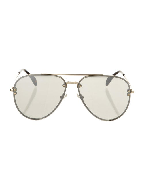 Celine Mirror Aviator Sunglasses Gold
