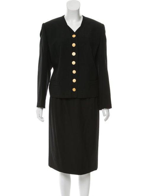 Celine Skirt Suit Black