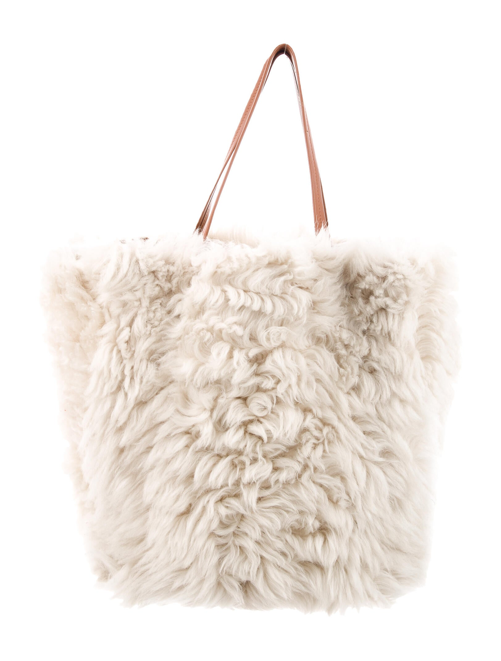 Celine Shearling Cabas Phantom Tote - Handbags -           CEL132373   The RealReal