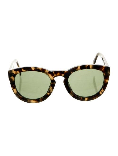 Celine Tinted Round Sunglasses Brown