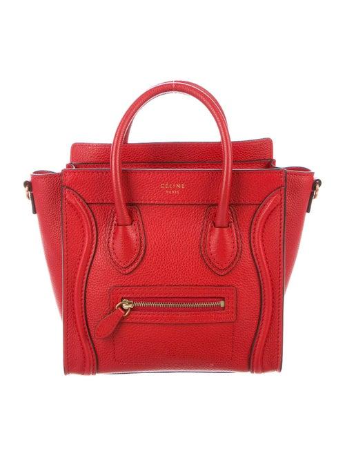 Celine Nano Luggage Tote Red
