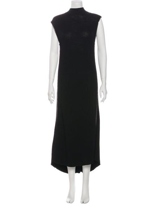 Celine Turtleneck Long Dress Black