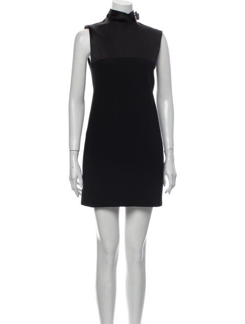 Celine Turtleneck Mini Dress Black