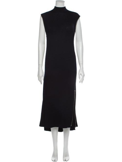 Celine Turtleneck Long Dress Blue