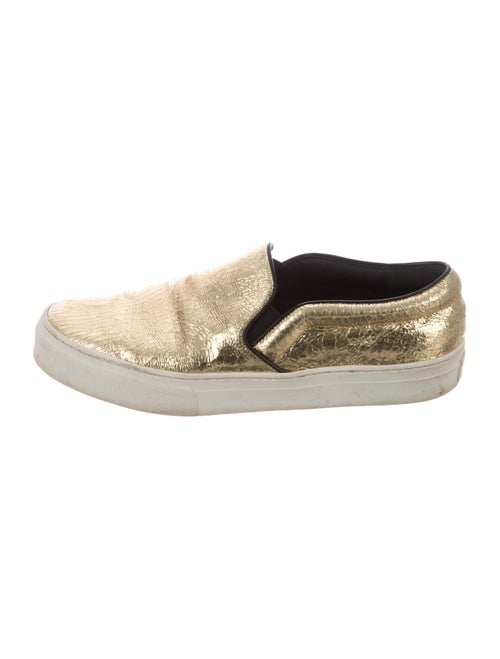 Celine Leather Sneakers Gold