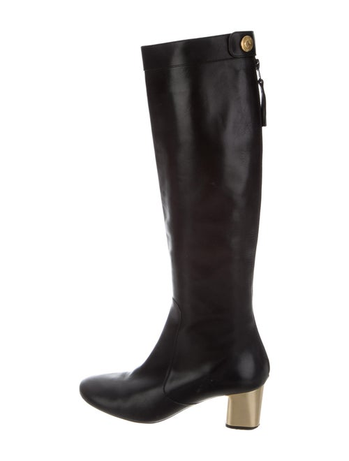 Celine Leather Riding Boots Black