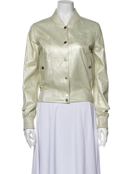 Celine Lamb Leather Evening Jacket Green