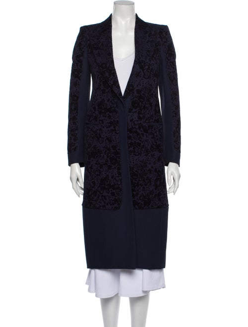 Celine Printed Coat Blue