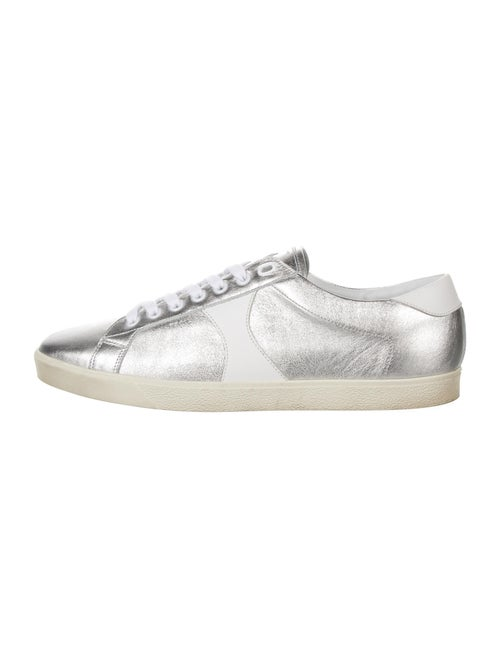 Celine Leather Sneakers Silver