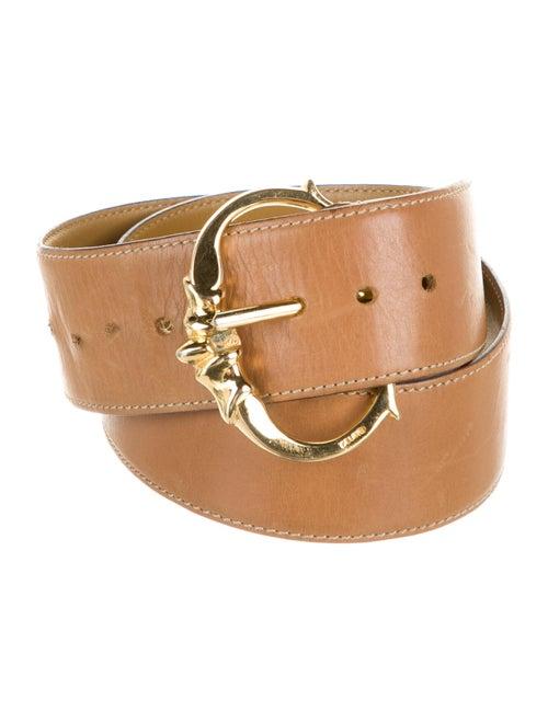 Celine Leather Belt Gold
