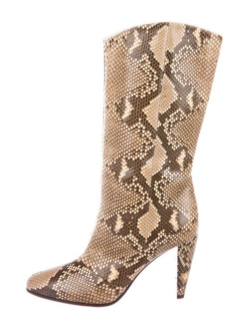 Celine Snakeskin Animal Print Boots
