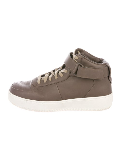 Celine Leather Sneakers Brown