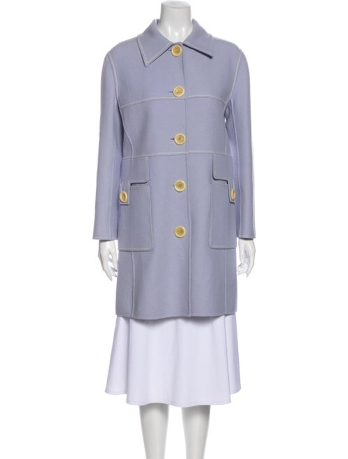 Celine Wool Trench Coat Wool
