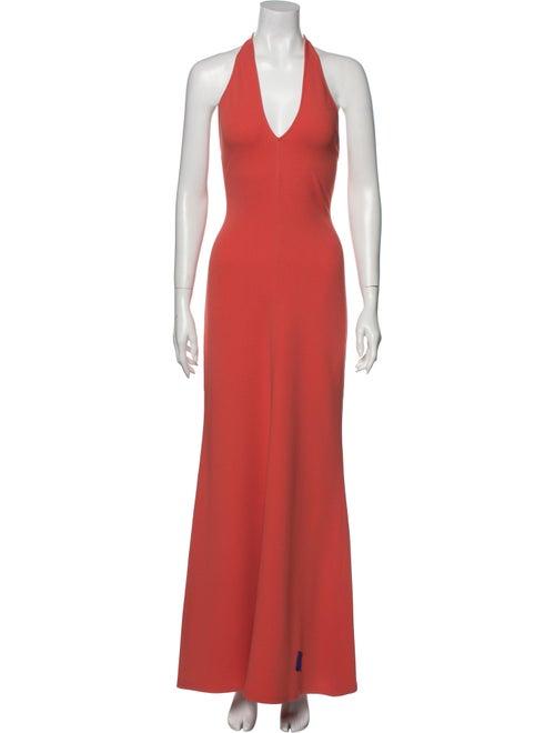 Celine Silk Long Dress Orange
