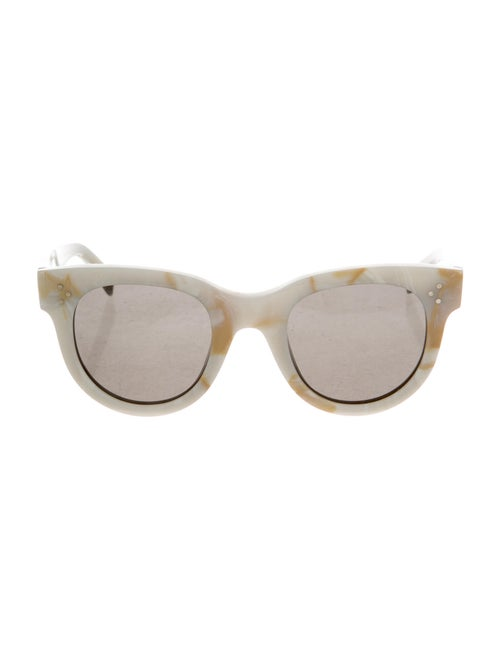 Celine Round Mirrored Sunglasses