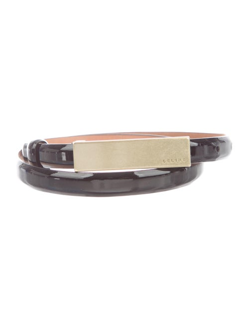 Celine Patent Leather Waist Belt Black