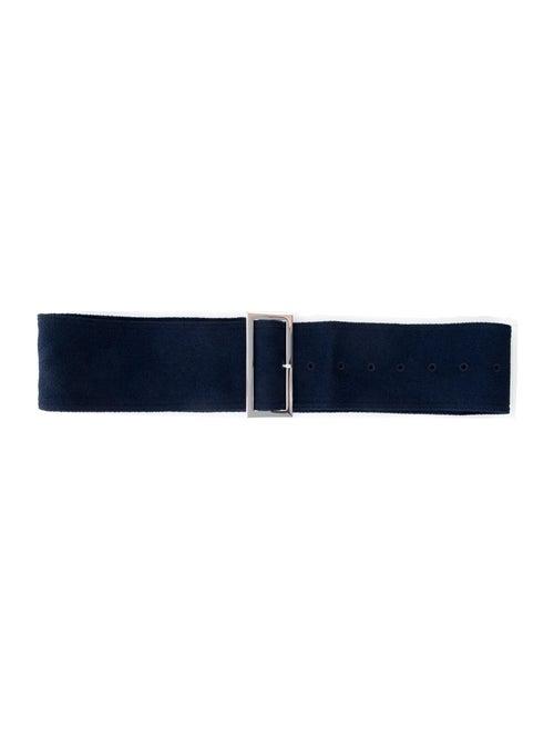 Celine Canvas Belt Blue