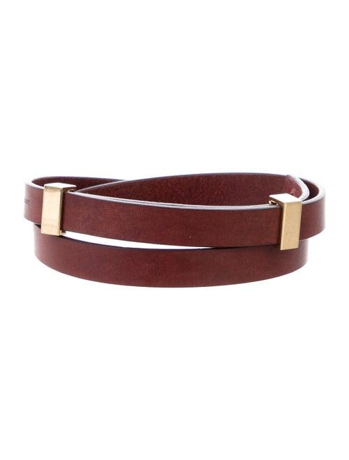 Celine Thin Waist Belt Red