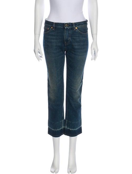 Celine Mid-Rise Straight Leg Jeans Blue