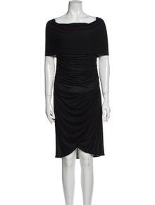 Celine Bateau Neckline Knee-Length Dress
