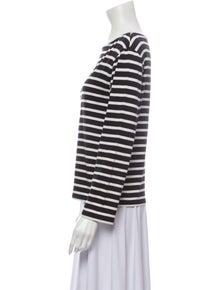 Celine Striped Bateau Neckline Top