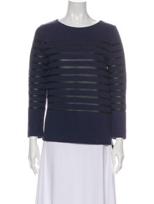 Celine Striped Scoop Neck Sweater