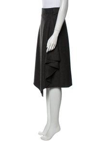 Celine Wool Midi Length Skirt