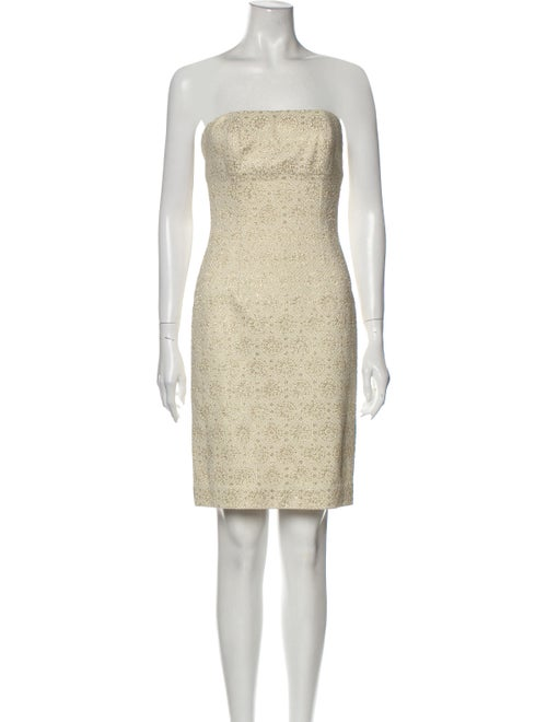 Celine Strapless Mini Dress Gold
