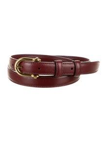 Celine Skinny Leather Belt