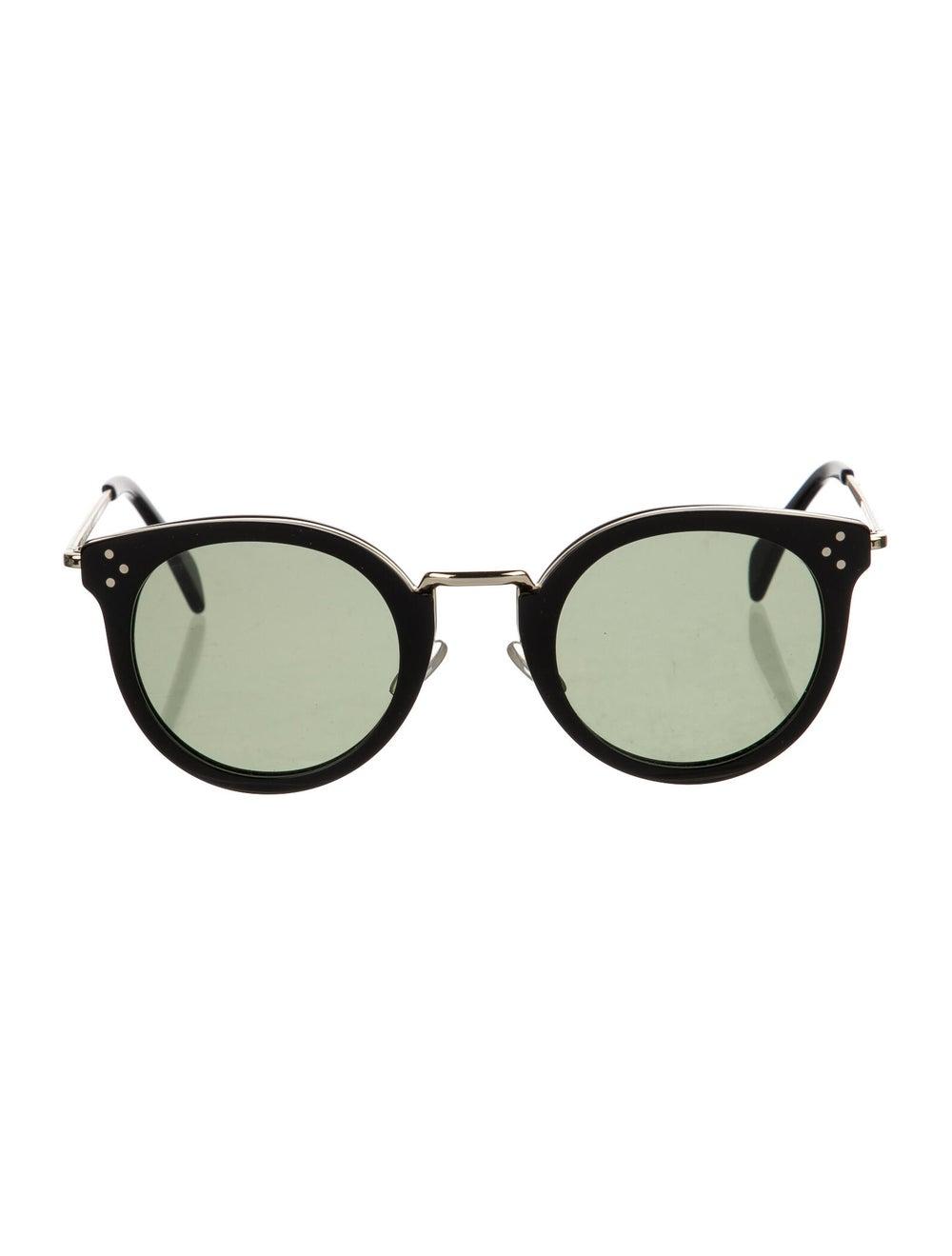 Celine Round Tinted Sunglasses Black - image 1