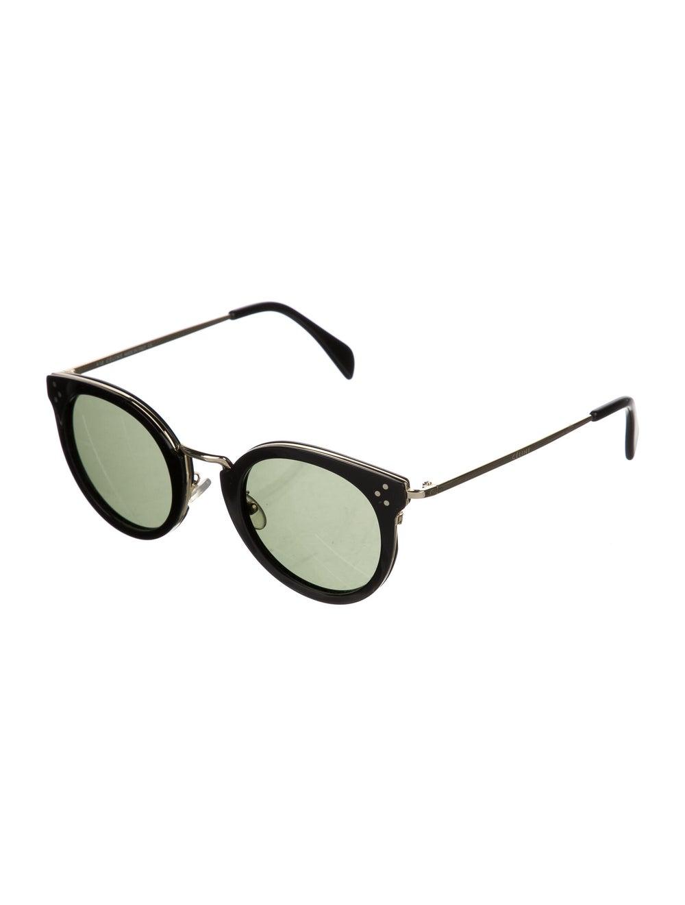 Celine Round Tinted Sunglasses Black - image 2