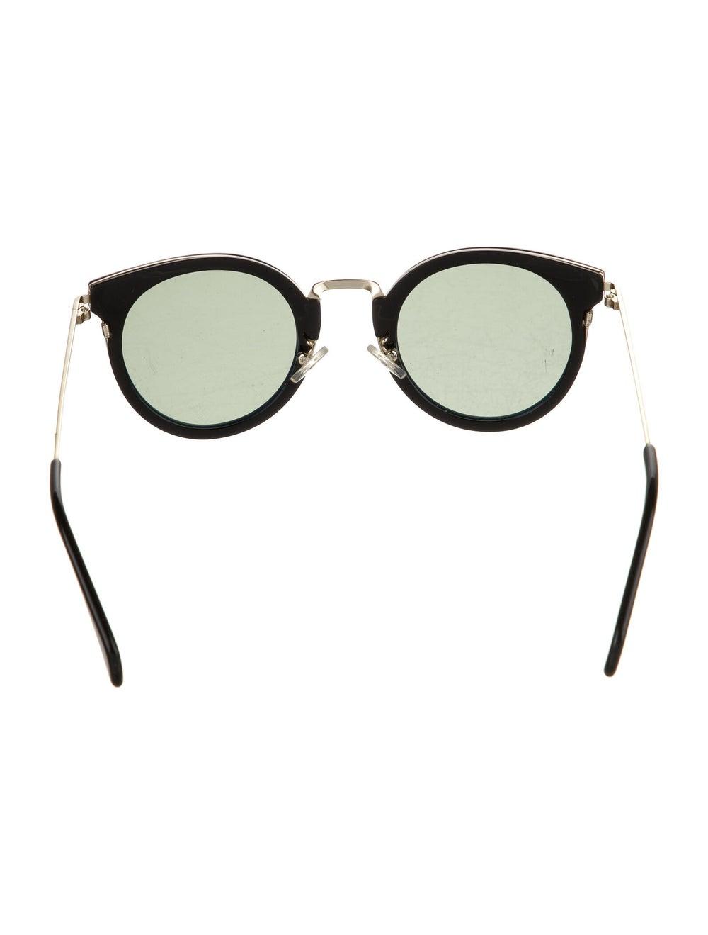 Celine Round Tinted Sunglasses Black - image 3