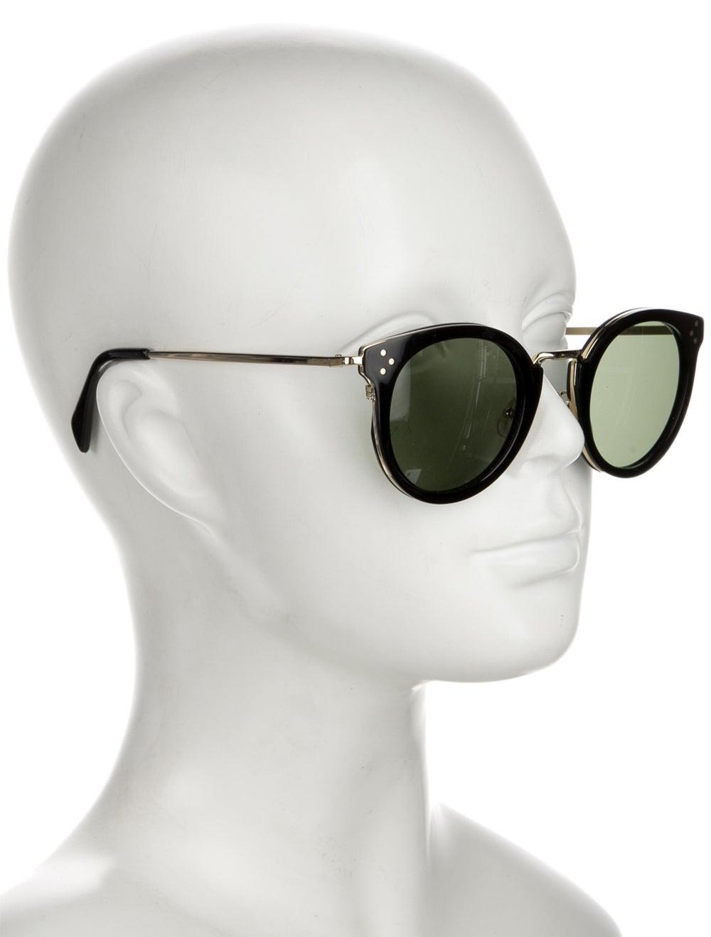Celine Round Tinted Sunglasses Black - image 4