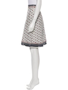 Celine Printed Knee-Length Skirt