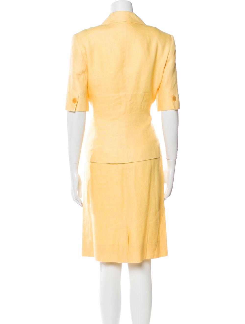 Celine Vintage Linen Skirt Suit Yellow - image 3